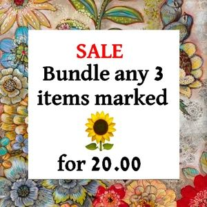 SALE Bundle any 3 items marked with a 🌻 for 20.00